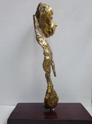 Untitled by Usha Ramachandran, Art Deco Sculpture | 3D, Bronze, Gray color