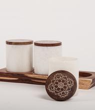 Mandala Condiment Servers Decorative Container By Studio Saswata