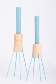 Fyre Large1 [Light Blue] Candle Stand By Rayden Design Studio