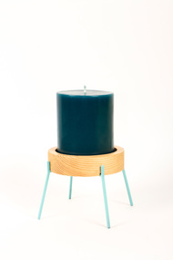 Fyre - Medium [Light Blue] Candle Stand By Rayden Design Studio