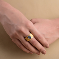 CORRUGATED TEXTURED RING by Symetree, Contemporary Ring