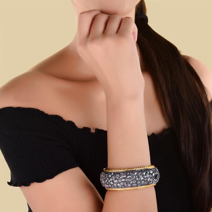 Crystal Bangle by Symetree, Art Jewellery Bangle