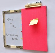 IVEI Pin board + whiteboard, Combination board - hand painted Mehendi work Wall Decor By i-value-every-idea