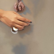Lunar Disc Ring by Studio Kassa, Art Jewellery Ring