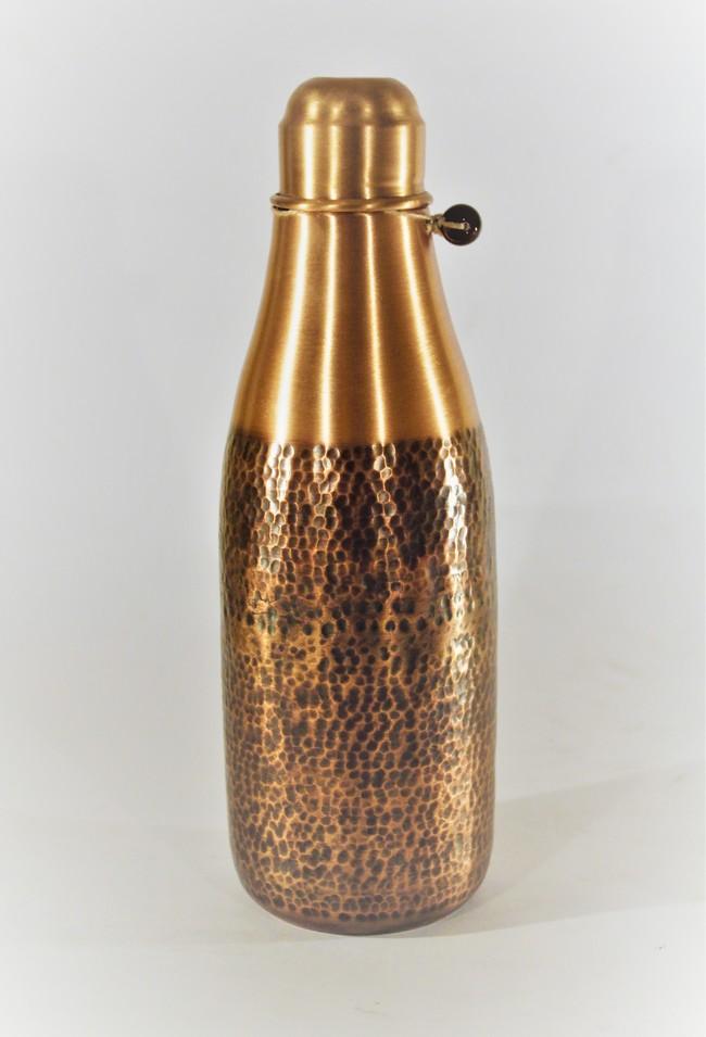 Courtyard jaipuri water bottle %28white%291