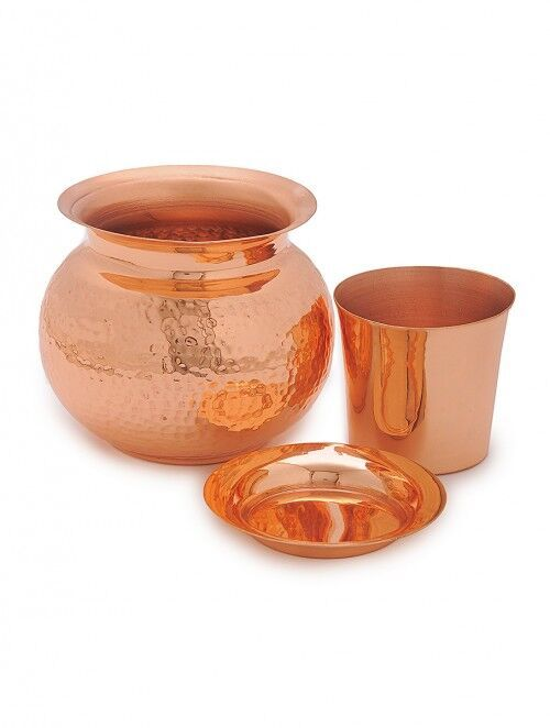 COURTYARD SHIVA KALASH PANCHAMRIT & PRASAD PLATE Kitchen Ware By COURTYARD
