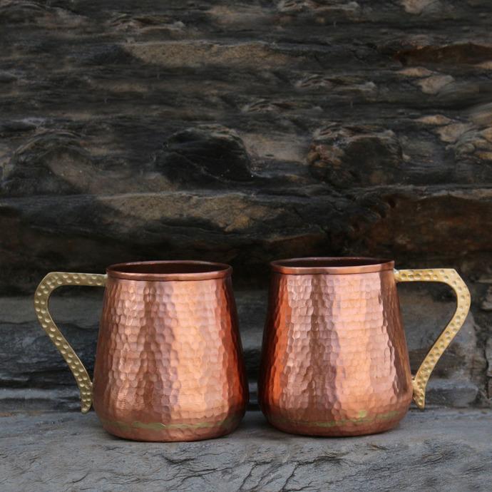 De Kulture™ Handmade Pure Copper Mug Moscow Mule Set of 2 - 500 ml Kitchen Ware By De Kulture Works