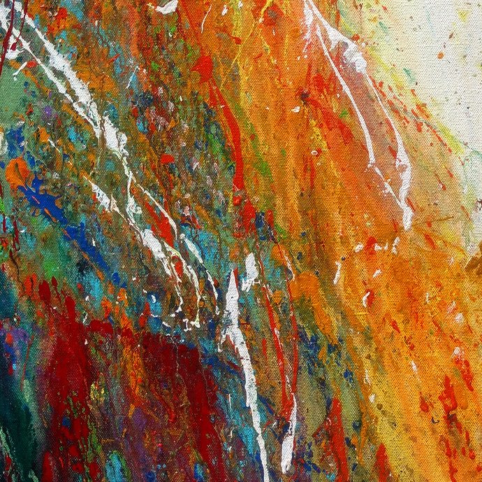 The Projection of Enlightenment by Anshu, Abstract Painting, Acrylic on Paper, Brown color