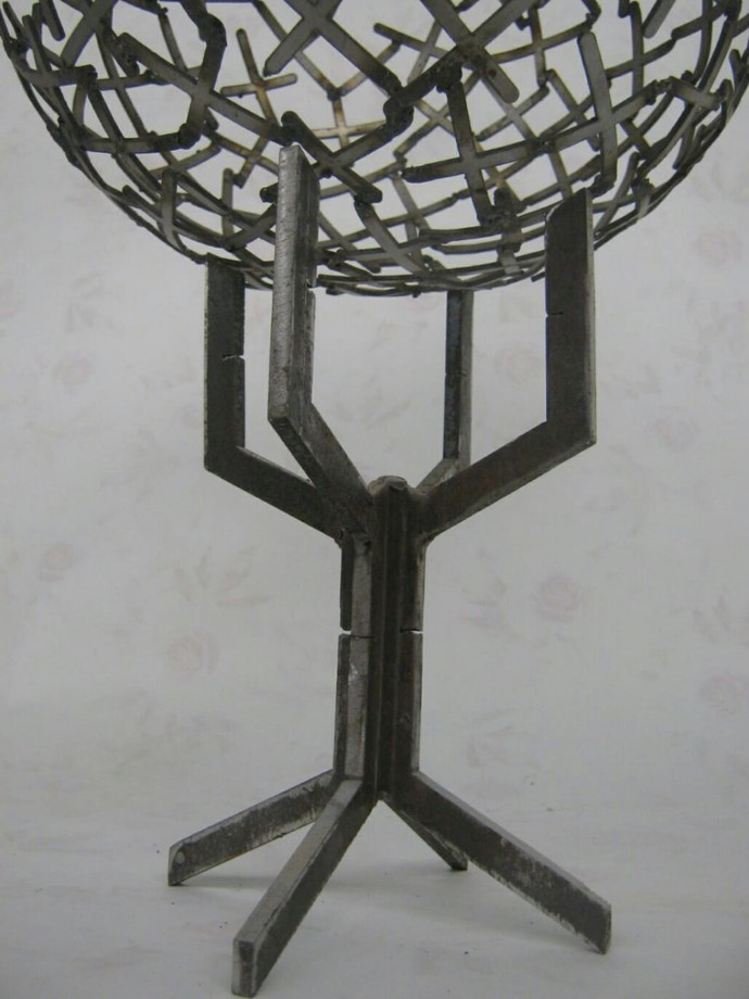 Unity by Jignesh Jariwala, Art Deco Sculpture | 3D, Iron, Gray color