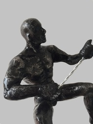 The Climber (set of 2) by Vernika, Art Deco Sculpture | 3D, Metal, Gray color