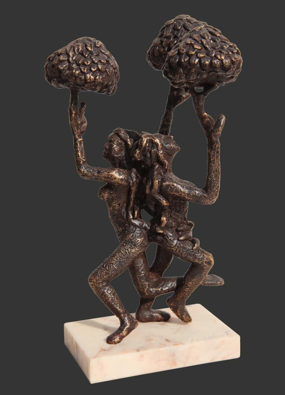 H8.5xl5.5xw4.5''inches bronze sculpture 2018 a420c