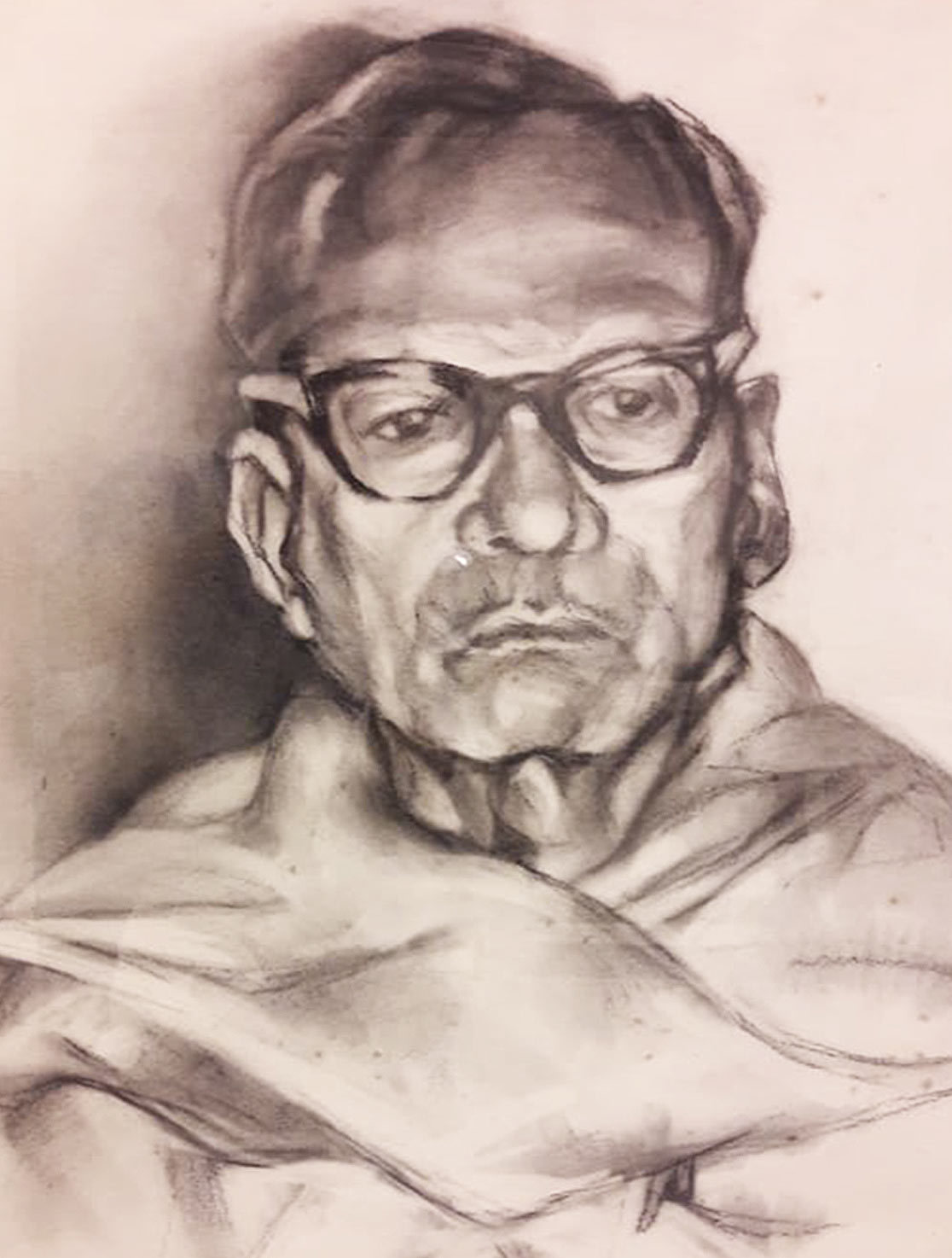 Paritosh sen charcoal on paper 30x22 inches 1988   detail 2
